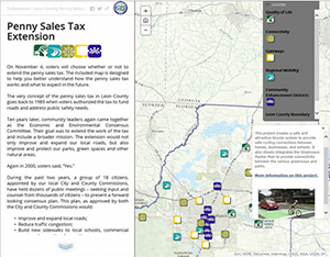 Penny Sales tax story map