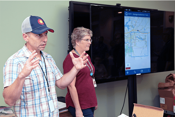 Damage assessment training after hurricane michael